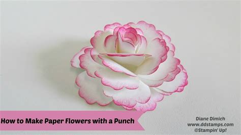 How To Make Paper Roses For Cards - how to make paper flowers
