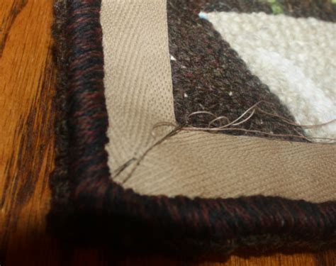 how to bind a rug by primitives by the light of the moon how i bind a hooked rug