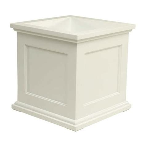 novelty madison 18 quot square planter in white ebay