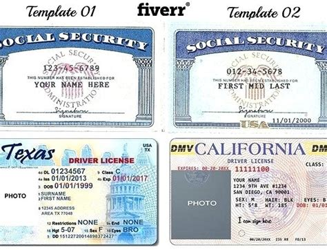 Temporary Identification Card Template