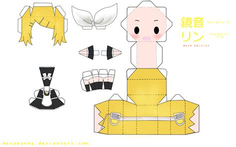 Kaito Papercraft - kagamine rin version by tsunyandere on deviantart