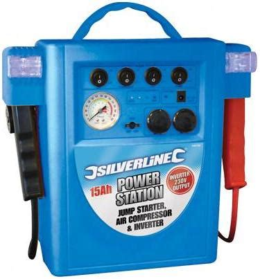 silverline 15ah jump starter air compressor and inverter 345782 supremeplumb