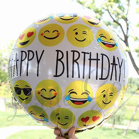 Balon Foil Doraemon Grosir 25pcs jual paket balon emoticon balon foil smile happy birthday set gou
