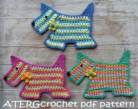 pattern crochet dog 7 best scottie dogs crochet patterns images on pinterest