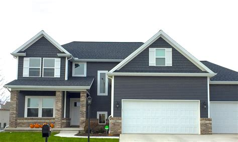 Gray Vinyl Siding With White Trim - siding white trim black shutters the gray siding with