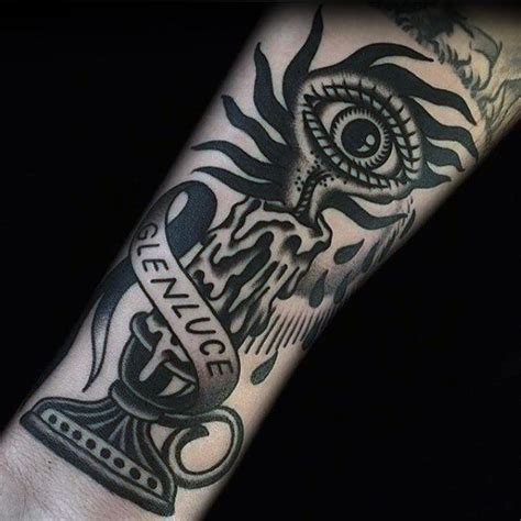tattoo old school eye 50 traditional candle tattoo designs for men illuminated