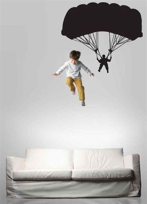 Wall Stickers Boys Bedroom parachutist parachute parachuter decal sky diving