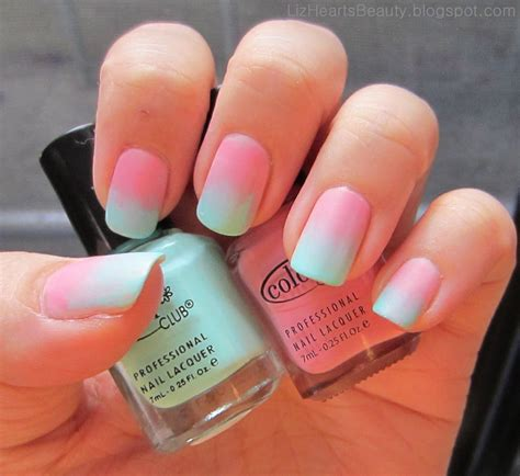 Nageldesign Selber Machen Mit Nagellack 1484 by Liz Hearts Cotton Gradient Nails