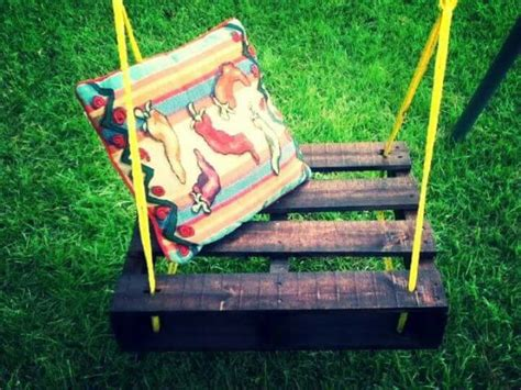 pallet swing bench 40 diy pallet swing ideas 99 pallets