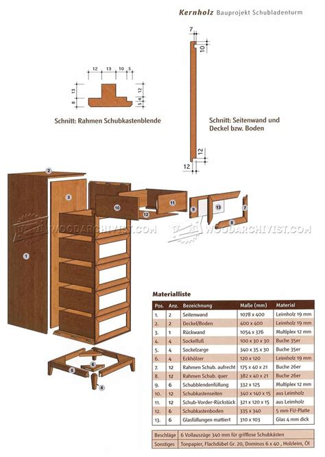 10 drawer dresser plans tall chest of drawers plans woodarchivist