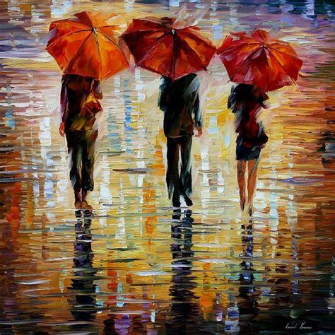 umbrella painting three umbrella by leonid afremov