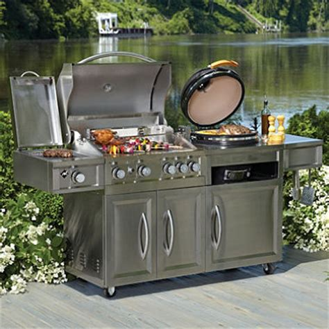 Kitchen Cabinet Program by Member S Mark Gas Amp Kamado Combo Grill Sam S Club