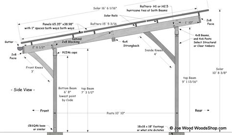 Attached Carport Pictures by Timber Solar Carport Plans