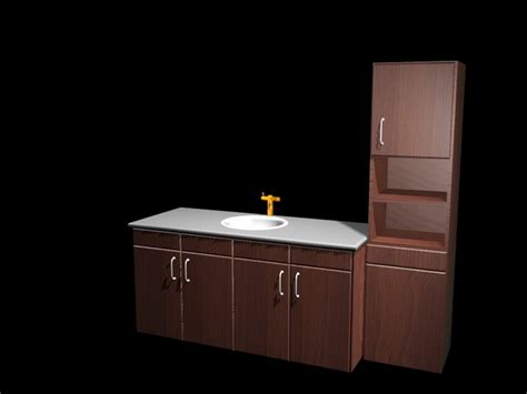 kitchen cabinet and sink combination 3d model 3d studio