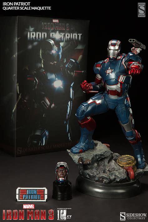 Ironman Figure Iron Patriot 1 iron patriot sideshow iron mam statue figure 1 4 scale maquette at cmdstore