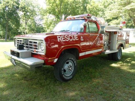 sell used 1975 dodge 4x4 power wagon truck in