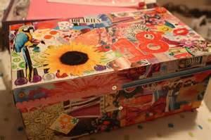 Decoupage Shoebox - decoupage shoebox crafts ideas