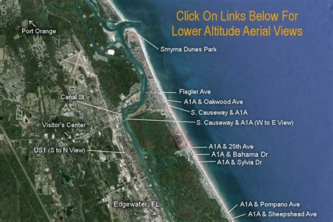 where is new smyrna florida on the florida map new smyrna fl aerial view