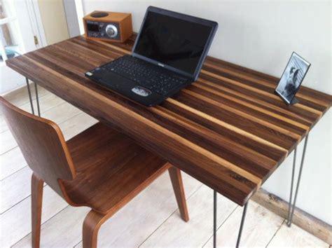 Mid Century Modern Computer Desk Featuring Black Walnut