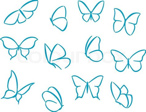 simple butterfly tattoo design butterflies silhouettes for symbols stock vector