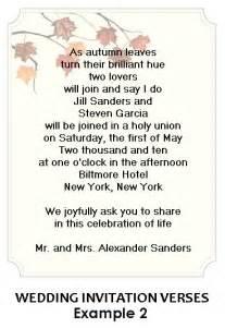 verses for wedding invitations sle wedding invitation wording