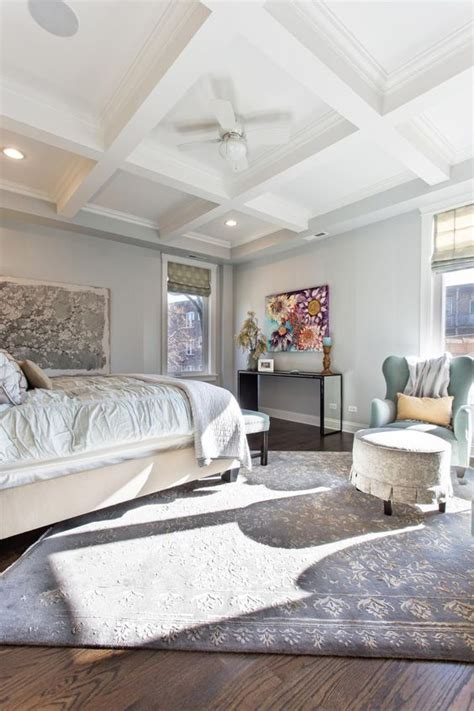 coffered ceiling bedroom a white coffered ceiling tops this beautifully light