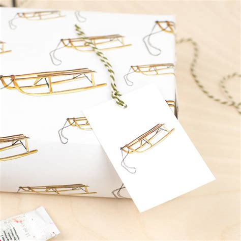 Luxury Christmas Gift Wrap - luxury sleigh christmas gift wrap by plewsy notonthehighstreet com