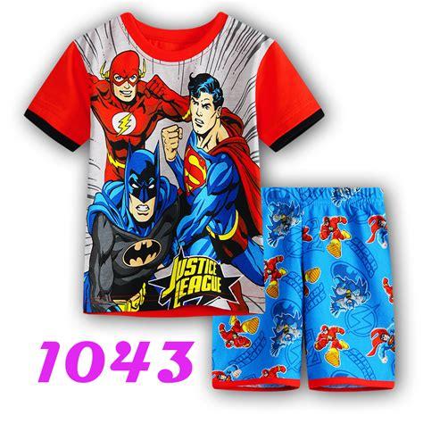Piyama Boy Superman spider superman pajamas clothing set shirt