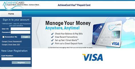 bw bank prepaid visa login www achievecard visa prepaid debit cards