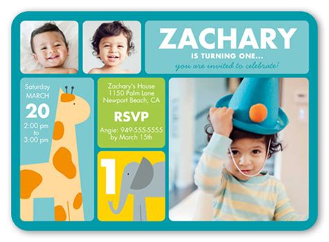 birthday invitation card template for boy safari boy birthday invitation shutterfly