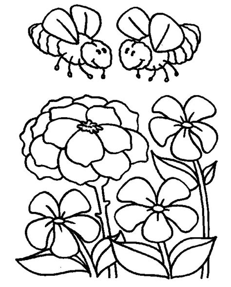 free coloring pages of bees and honey
