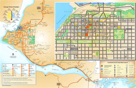 anchorage usa map anchorage tourist map
