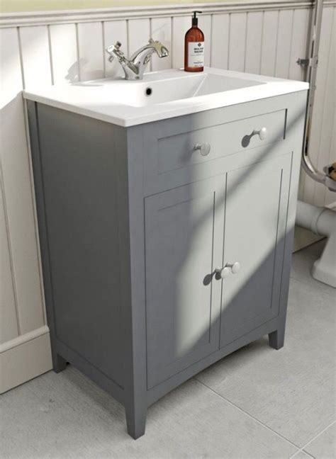 Vanity Unit Sinks by Plumb Vanity Unit With Sink Grey To Include