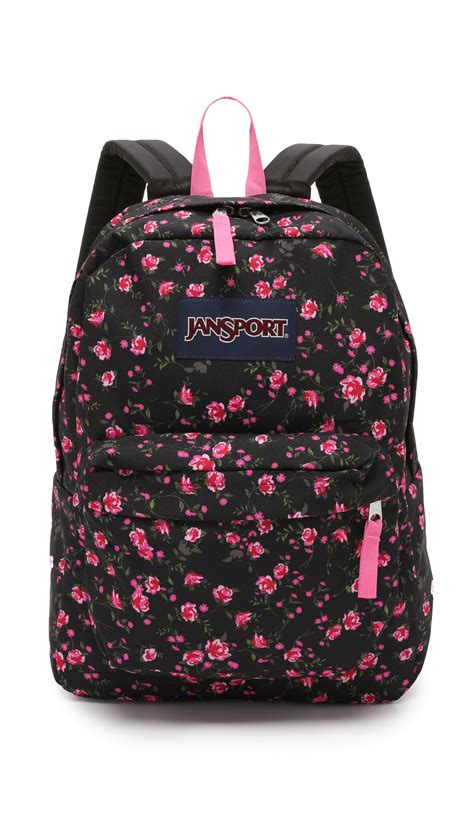 Ransel Mini Jansport Black Flower jansport superbreak backpack lipstick pink tea