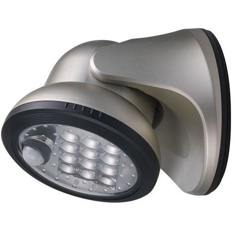 light it wireless led porch light light it silver 12 led wireless motion activated