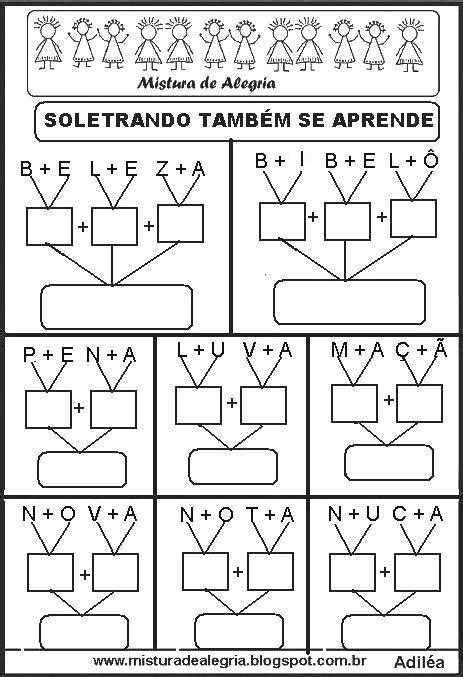 SOLETRANDO E APRENDENDO A LER E ESCREVER PALAVRAS, PARA