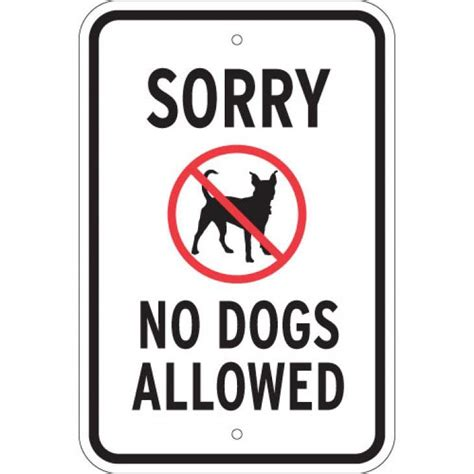 no dogs allowed sorry no dogs allowed sign inform owners that dogs are not permitted