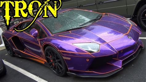 lamborghini purple chrome tron lamborghini aventador chrome purple and orange