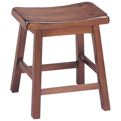 18 High Stool by Acme Furniture Gaucho 18 Quot Saddle Walnut Set Of 2 Bar Stool