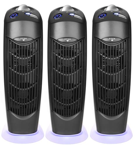 three atlas ionic uv electrostatic carbon filter air purifiers no filter replacement