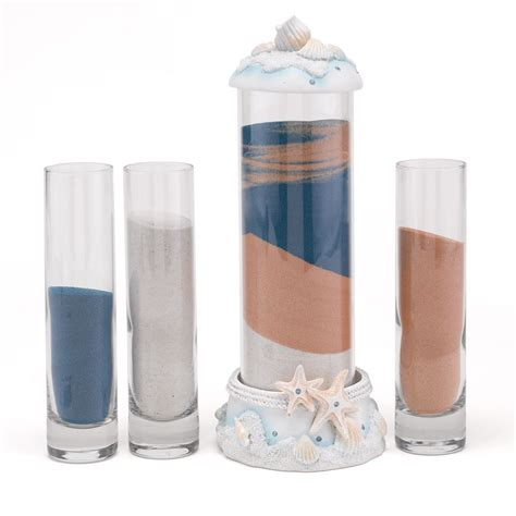 Wedding Sand Ceremony Vases With Lids Ocean Unity Sand Ceremony Set Invitations By Dawn