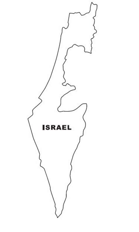 Map Of Israel Coloring Page map israel coloring pages