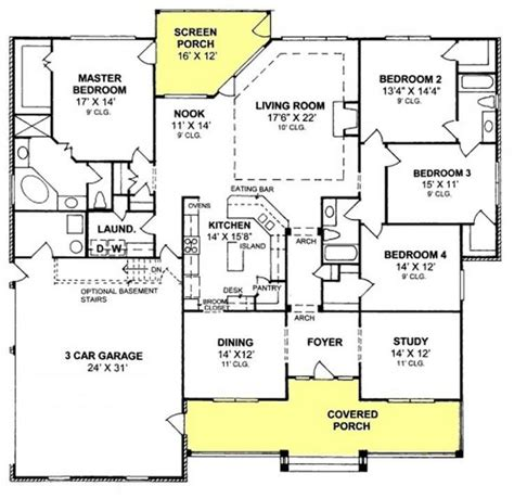 villa designs and floor plans lovely 4 bedroom floor plans for a house new home plans