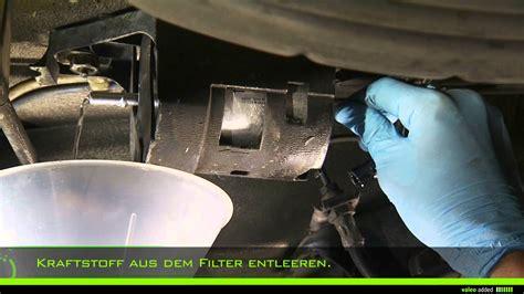 Audi A4 B8 ölwechsel valeo kraftstofffilter montage eines