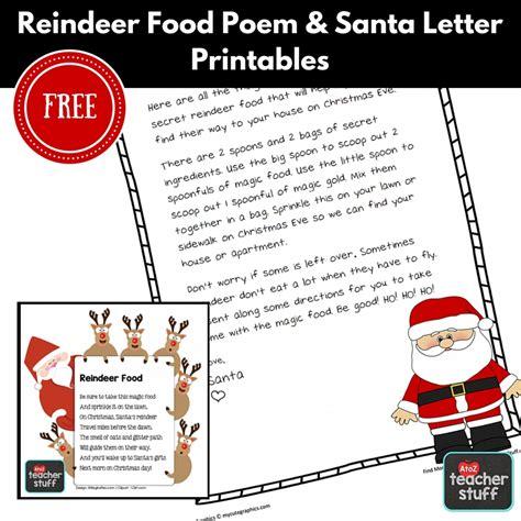 free christmas printables letter to santa reindeer food home reindeer food recipe printable poem santa letter a to