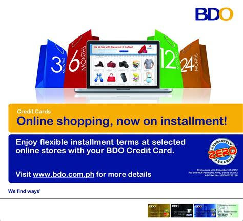 Can You Buy Stuff Online With A Mastercard Gift Card - shop at 0 interest on installment with bdo credit cards pinoy tech blog