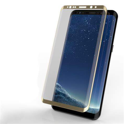 Tempered Glass Gold galaxy s8 gold screen protector punkcase glass shield samsung
