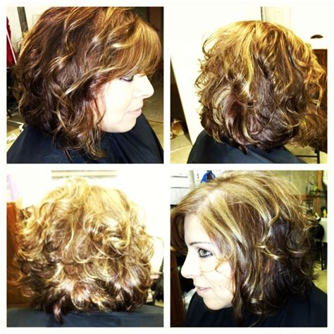 angled bob for curly hair curly hair long angled bob