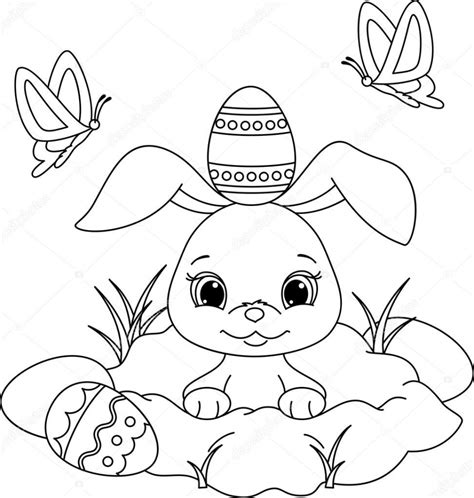 bunny coloring pages for preschoolers easter bunny pages for preschoolers coloring pages