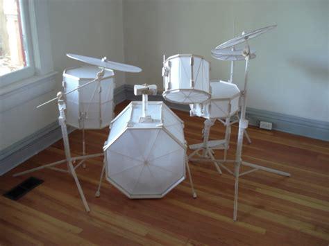 How To Make A Paper Drum Set - komakino fanzine paper drum kit kit bashing